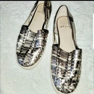 Elliot Lucca bronze metallic leather flat
